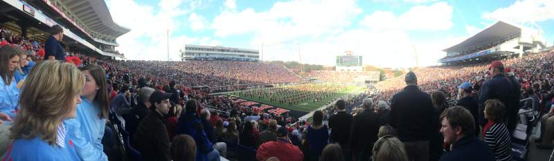 Seating view for Vaught-Hemingway Stadium Section S3 Row 42
