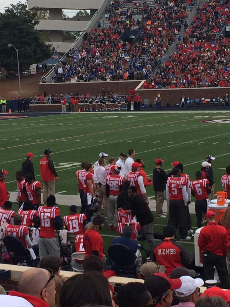 Seating view for Vaught-Hemingway Stadium Section O Row 7