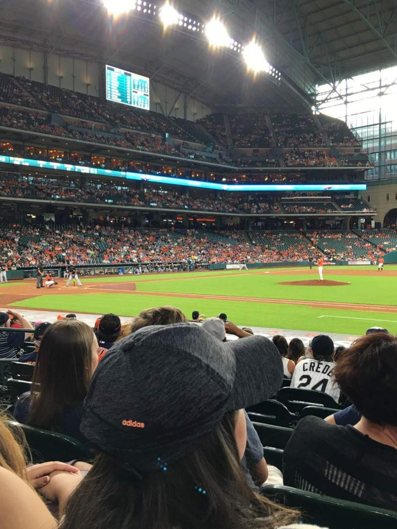 Seating view for Minute Maid Park Section 126 Row 14 Seat 8