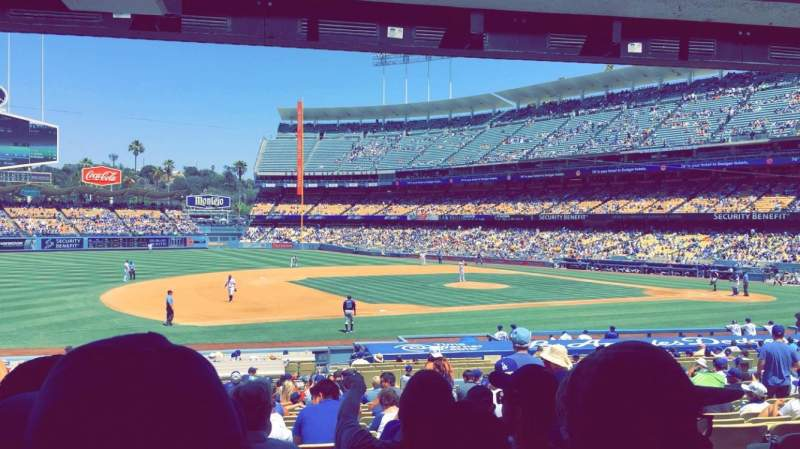 Seating view for Dodger Stadium Section 27FD Row W Seat 3