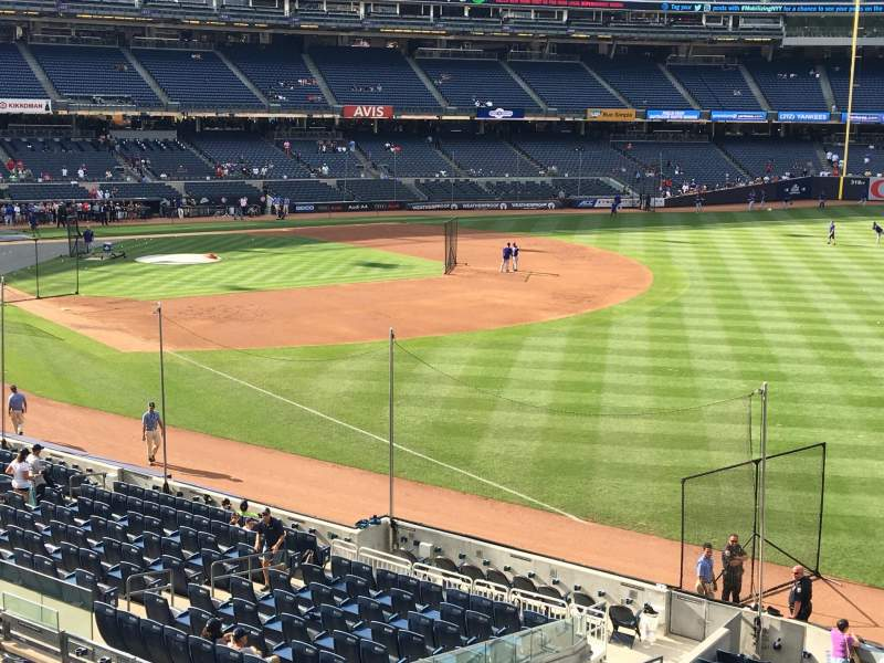 Seating view for Yankee Stadium Section 210 Row 1 Seat 14