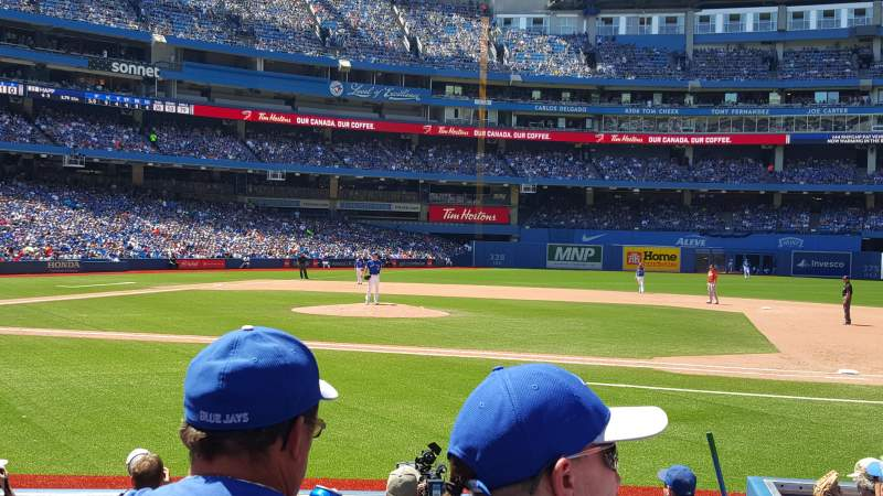 Seating view for Rogers Centre Section 116L Row 10 Seat 109