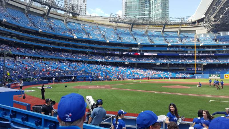 Seating view for Rogers Centre Section 116L Row 10 Seat 110