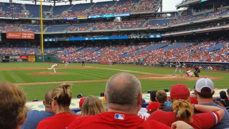 Seating view for Citizens Bank Park Section 130 Row 9 Seat 17