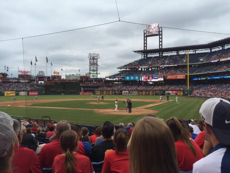 Seating view for Citizens Bank Park Section C Row 15 Seat 14