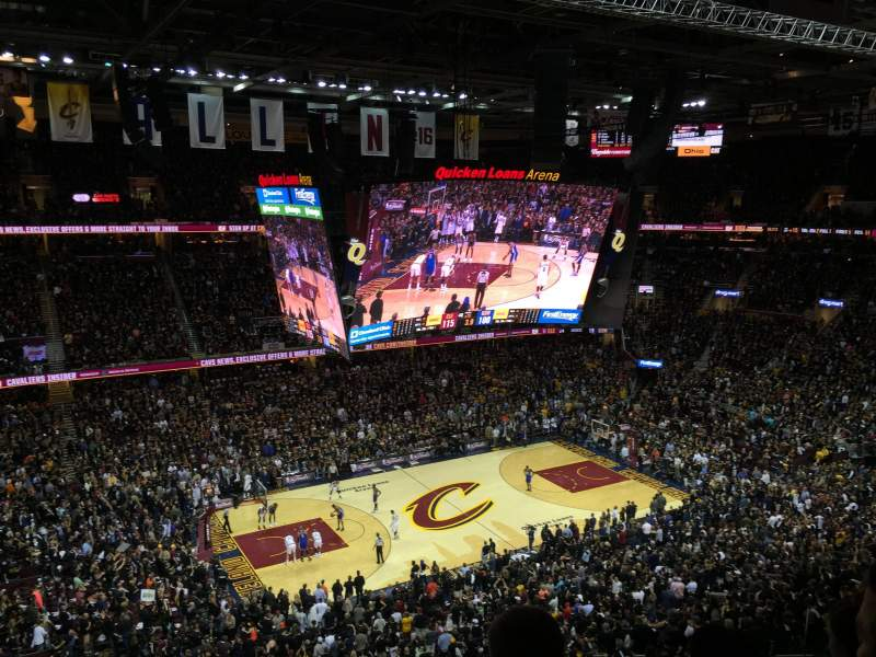 Seating view for Quicken Loans Arena Section 206 Row 6 Seat 3,4