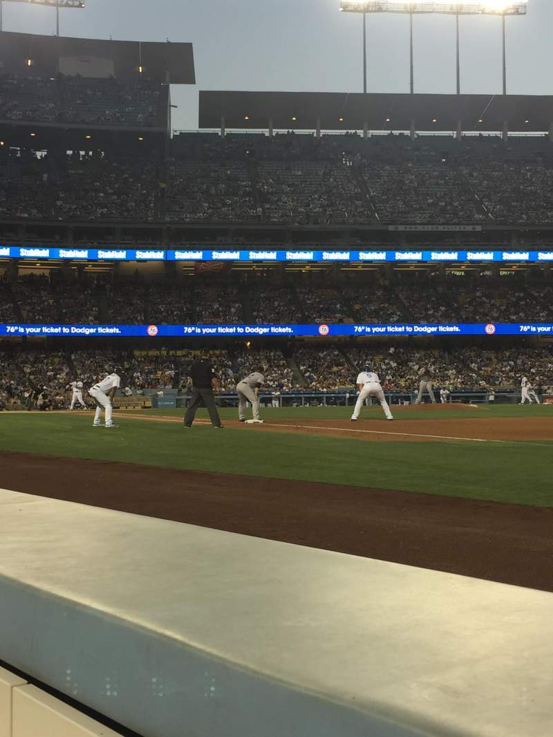 Seating view for Dodger Stadium Section 32BL Row 1 Seat 7-8