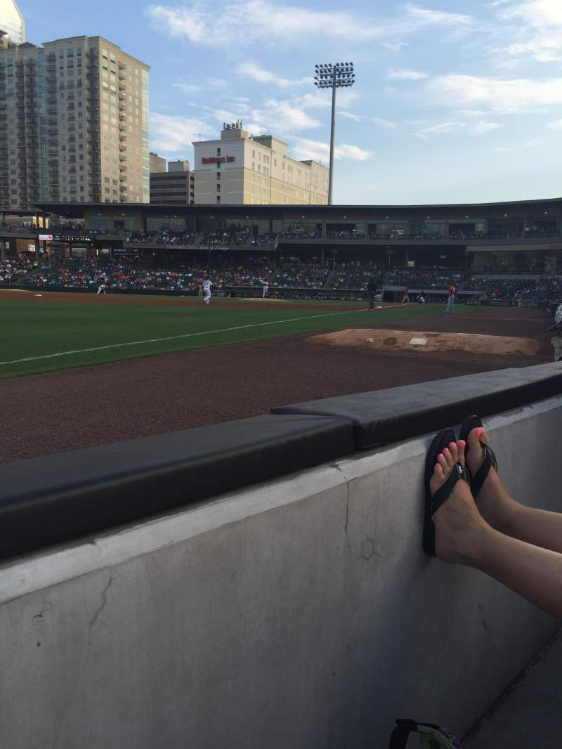 Seating view for BB&T Ballpark (Charlotte) Section 120 Row A