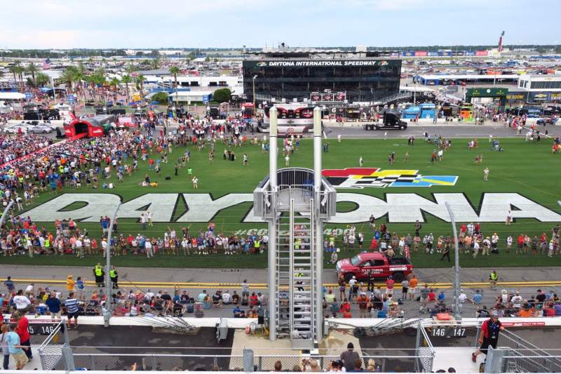 Seating view for Daytona International Speedway Section 351 Row 4 Seat 11