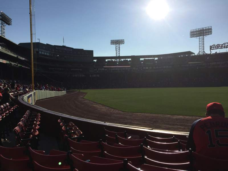 Seating view for Fenway Park Section Right Field Box 2 Row G Seat 12
