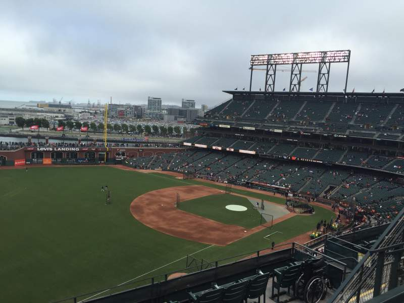 Seating view for AT&T Park Section 330 Row 2 Seat 14