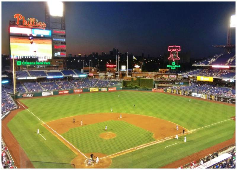Seating view for Citizens Bank Park Section 319 Row 6 Seat 22