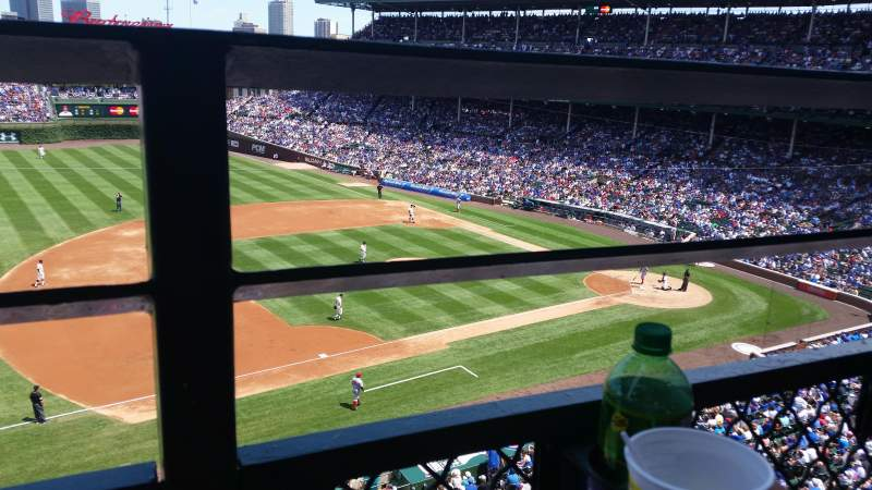 Seating view for Wrigley Field Section 308L Row 1 Seat 21