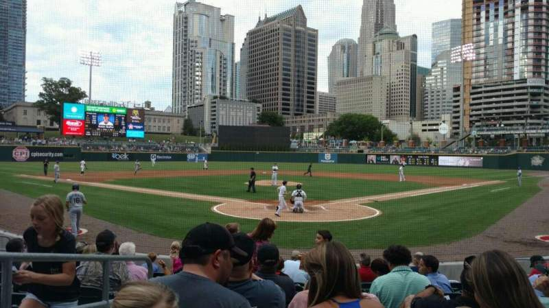 Seating view for BB&T Ballpark (Charlotte) Section 111 Row K Seat 12