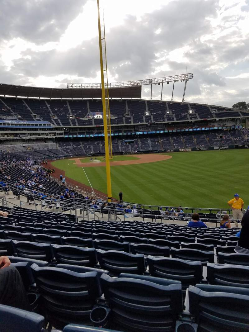 Seating view for Kauffman Stadium Section 249 Row NN Seat 10