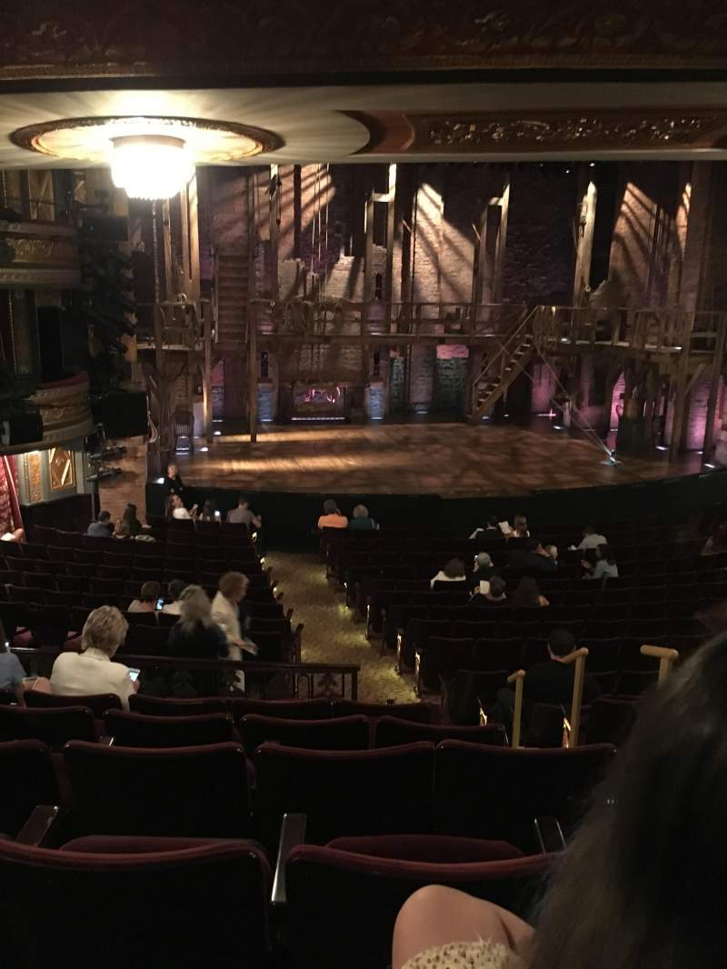 Seating view for Richard Rodgers Theatre Section Mezzanine  Row Q Seat 5