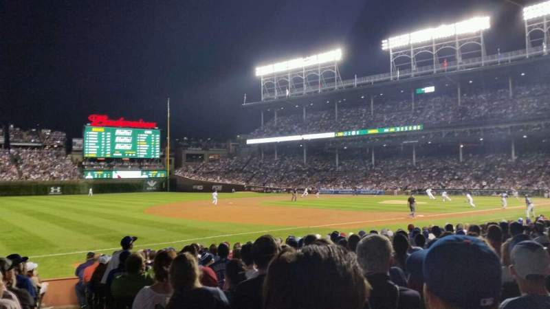 Seating view for Wrigley Field Section 107 Row 2 Seat 14