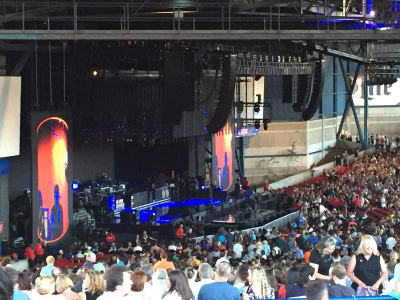 Seating view for Marcus Amphitheater Section 21 Row k Seat 23