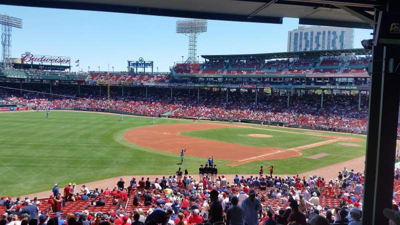 Seating view for Fenway Park Section grandstand 31 Row 11 Seat 9