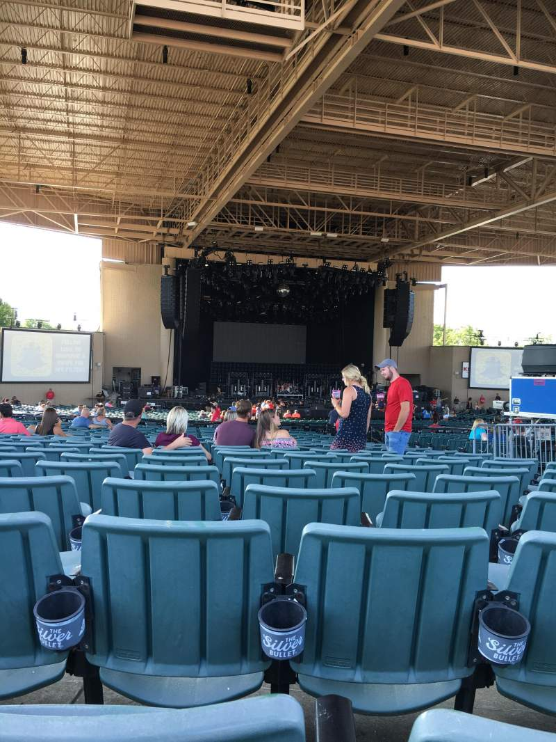 Seating view for Klipsch Music Center Section E Row BB Seat 7