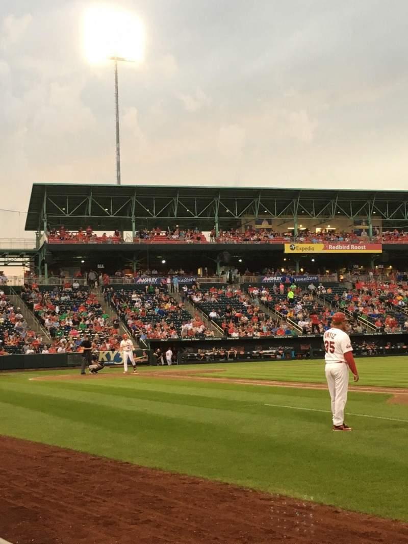 Hammons Field, section: C, row: 1, seat: 16