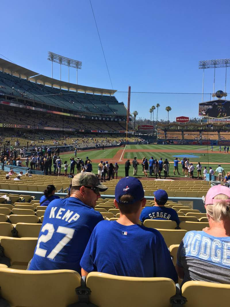 Seating view for Dodger Stadium Section 10FD Row N Seat 10
