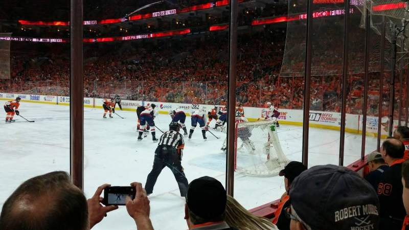 Seating view for Wells Fargo Center Section 105 Row 3 Seat 11
