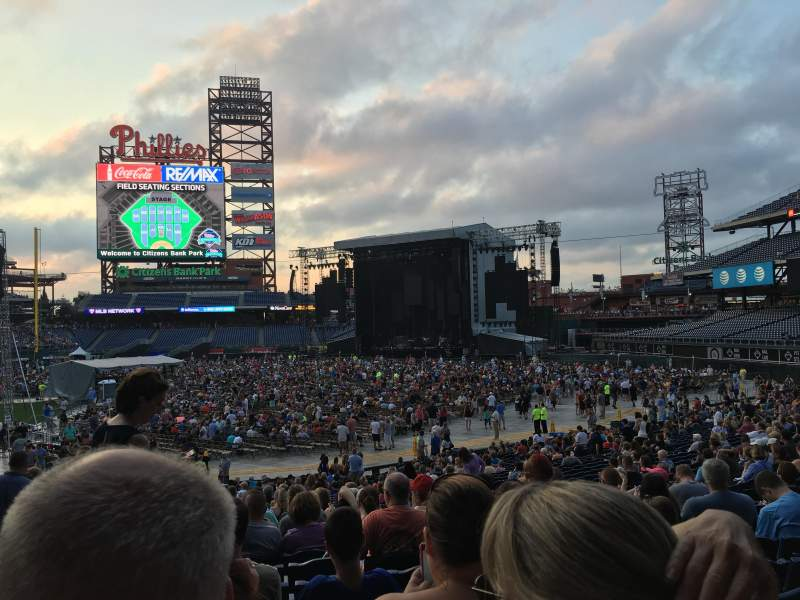 Seating view for Citizens Bank Park Section 114 Row 33 Seat 16