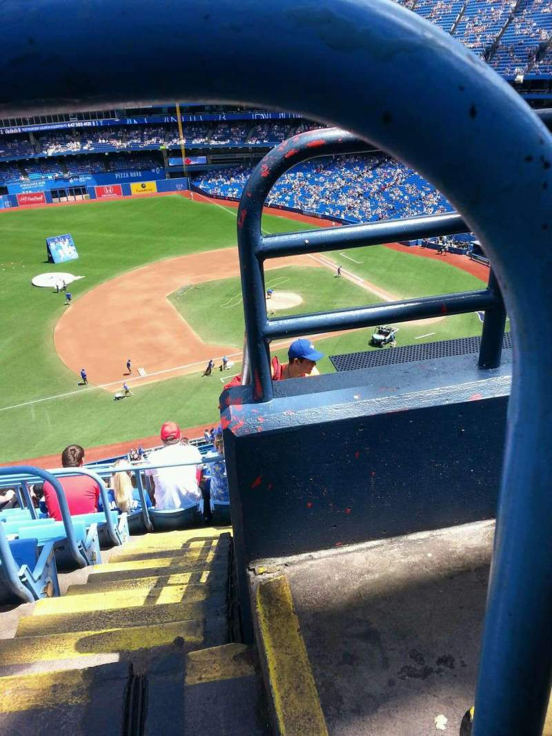 Seating view for Rogers Centre Section 531 Row 10 Seat 101