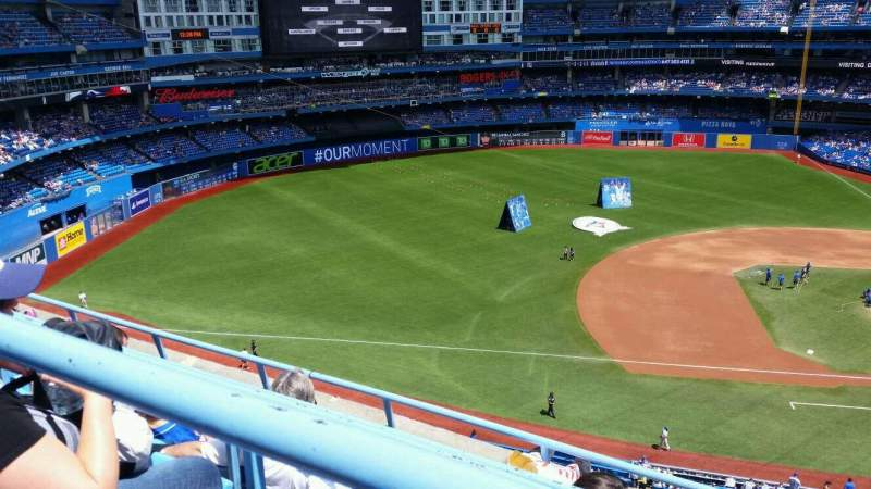 Seating view for Rogers Centre Section 531L Row 4 Seat 104
