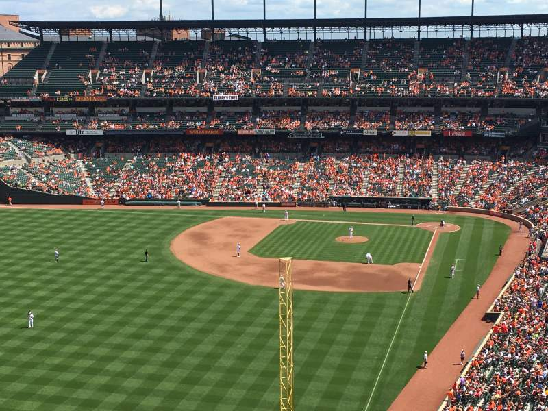 Seating view for Oriole Park At Camden Yards Section 378 Row 23 Seat 27