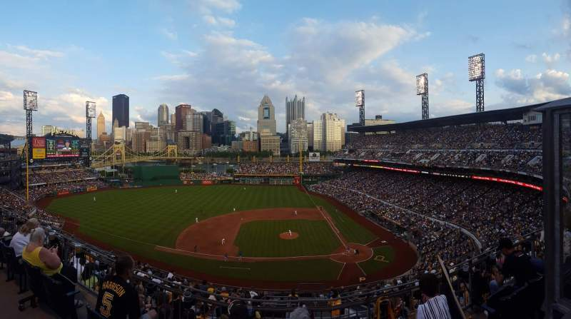 Seating view for PNC Park Section 322 Row G Seat 3