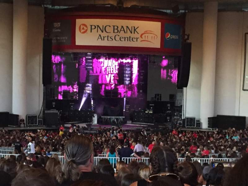 Seating view for PNC Bank Arts Center Section 303 Row V Seat 117