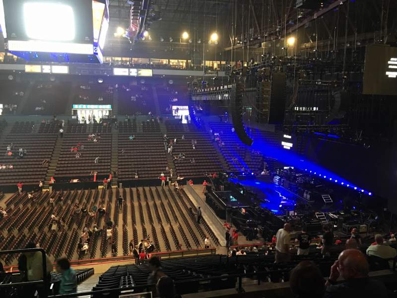 Seating view for US Bank Arena Section 212 Row F Seat 1