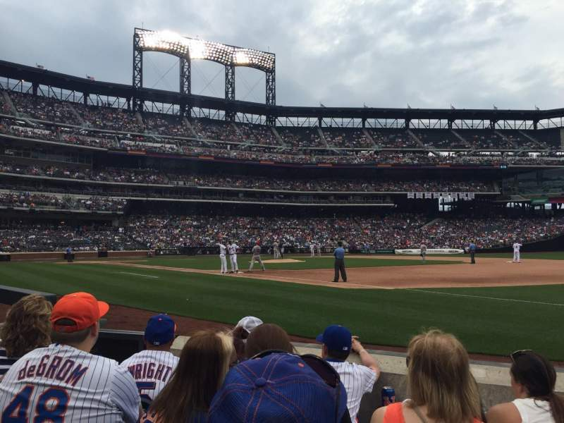 Seating view for Citi Field Section 110 Row D Seat 7-8
