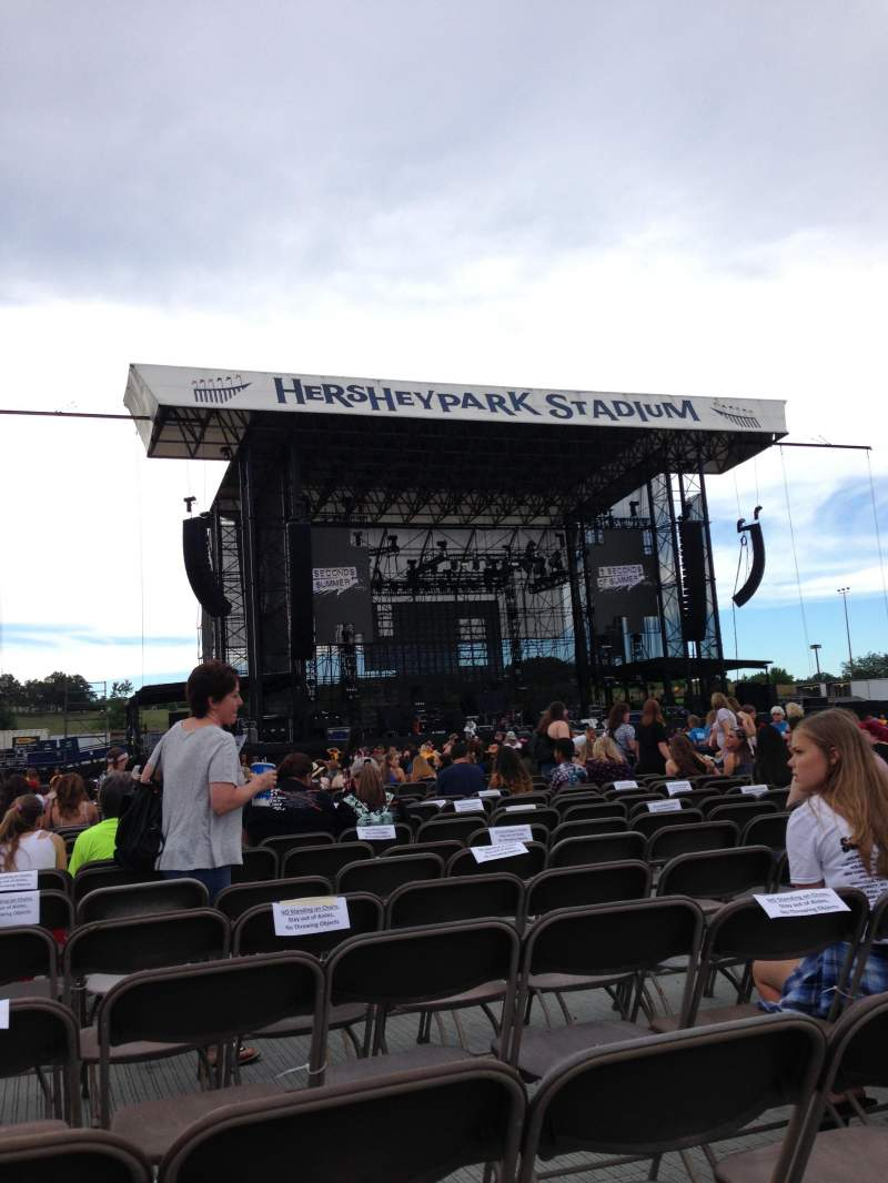 Seating view for Hershey Park Stadium Section E Row 45 Seat 33