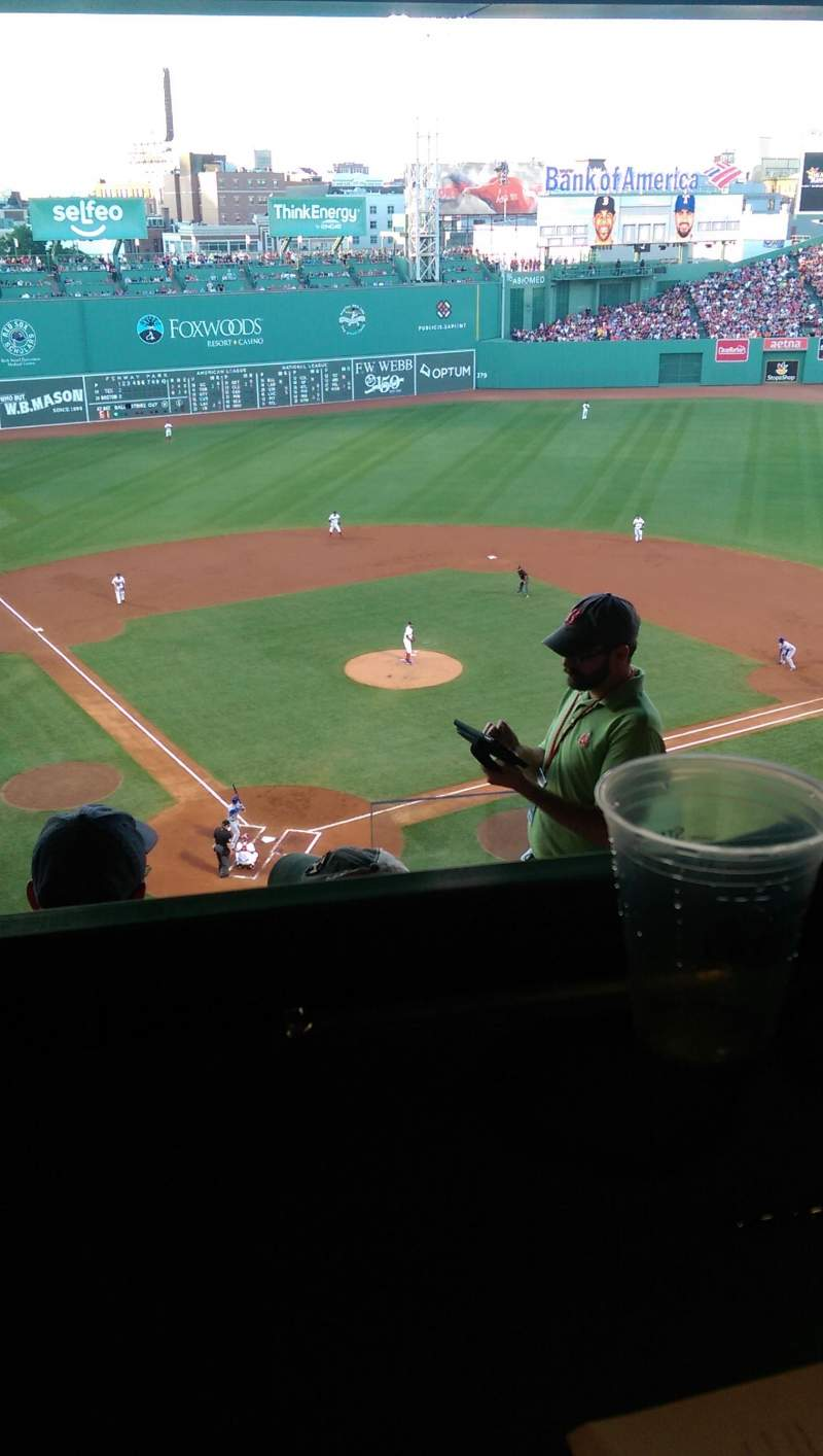 Seating view for Fenway Park Section State St home plate pavilion Row 5 Seat 1