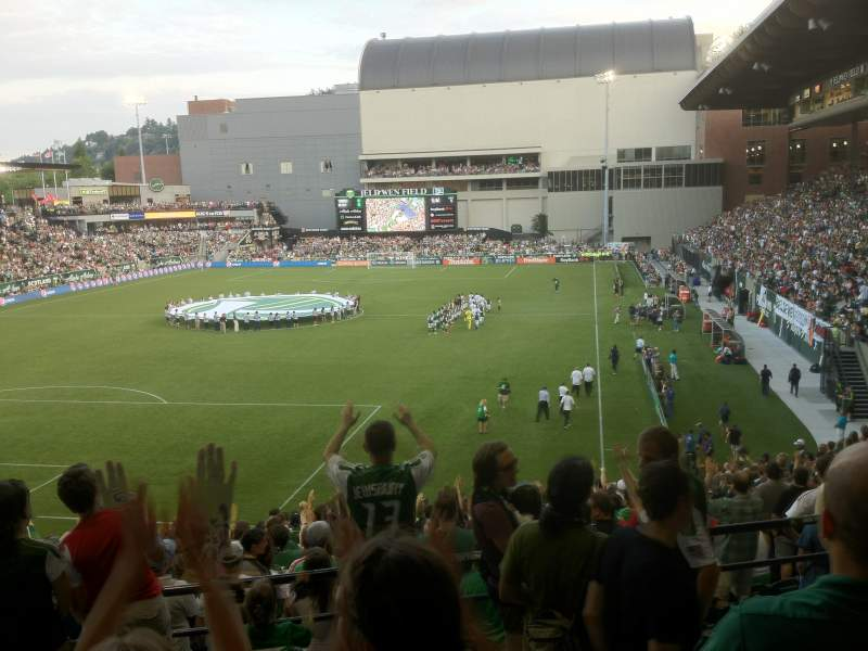 Seating view for Providence Park Section 210 Row C Seat 6