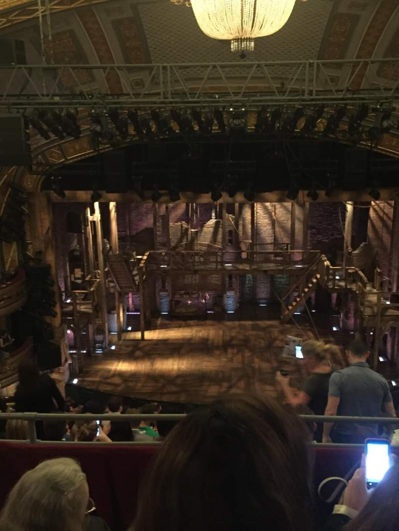 Seating view for Richard Rodgers Theatre Section Rear Mezzanine Row C Seat 108