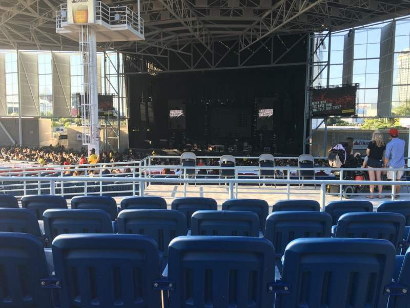 Seating view for Molson Amphitheatre Section 404 Row E Seat 5