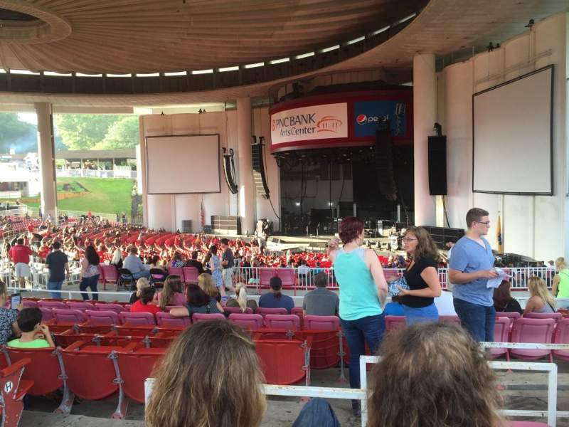 Seating view for PNC Bank Arts Center Section 401 Row E Seat 10