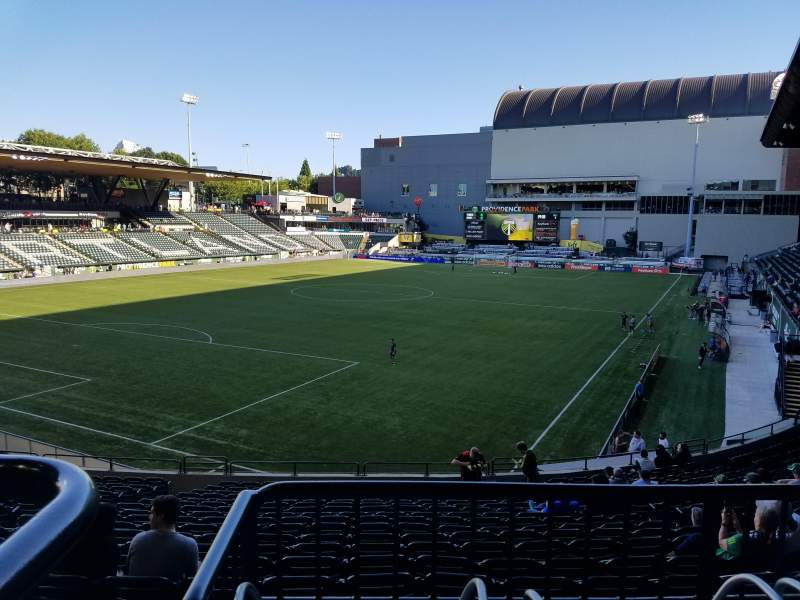 Seating view for Providence Park Section 111 Row R Seat 11