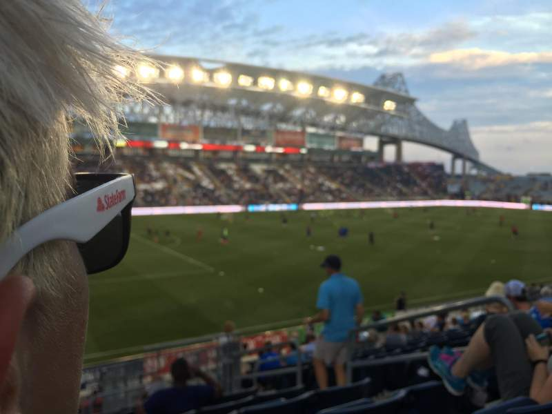 Seating view for Talen Energy Stadium Section 112 Row s Seat 3-6