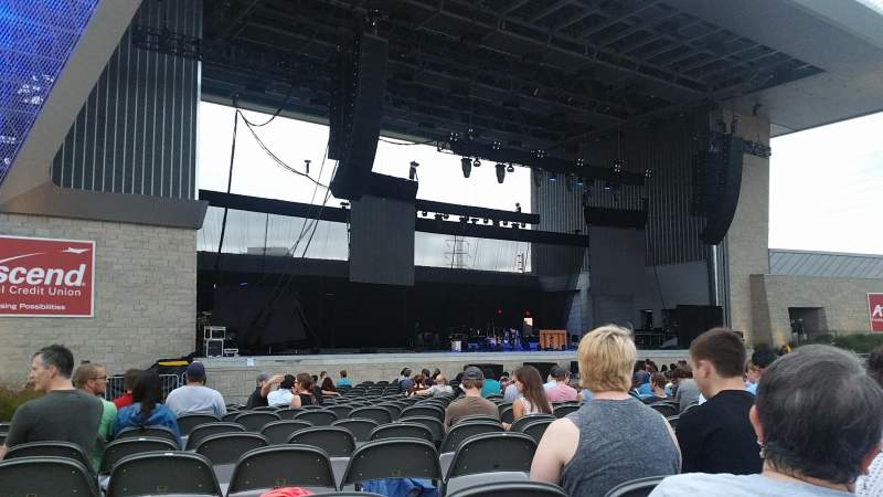 Seating view for Ascend Amphitheater Section 103 Row P Seat 23