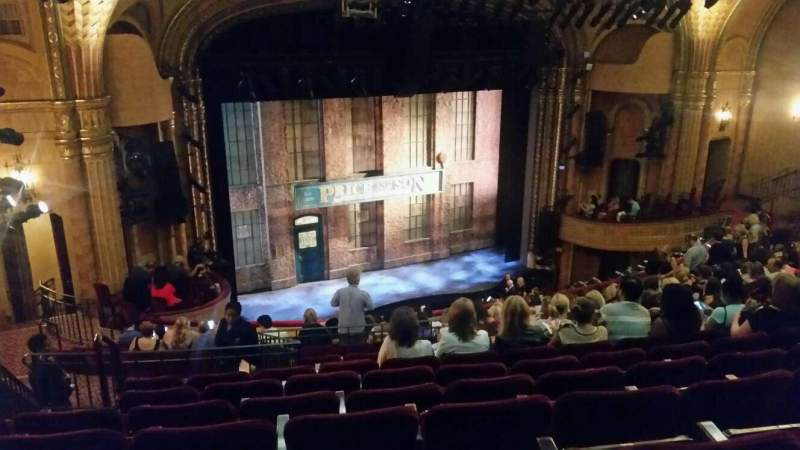 Seating view for Al Hirschfeld Theatre Section mezzanine left Row P Seat 25