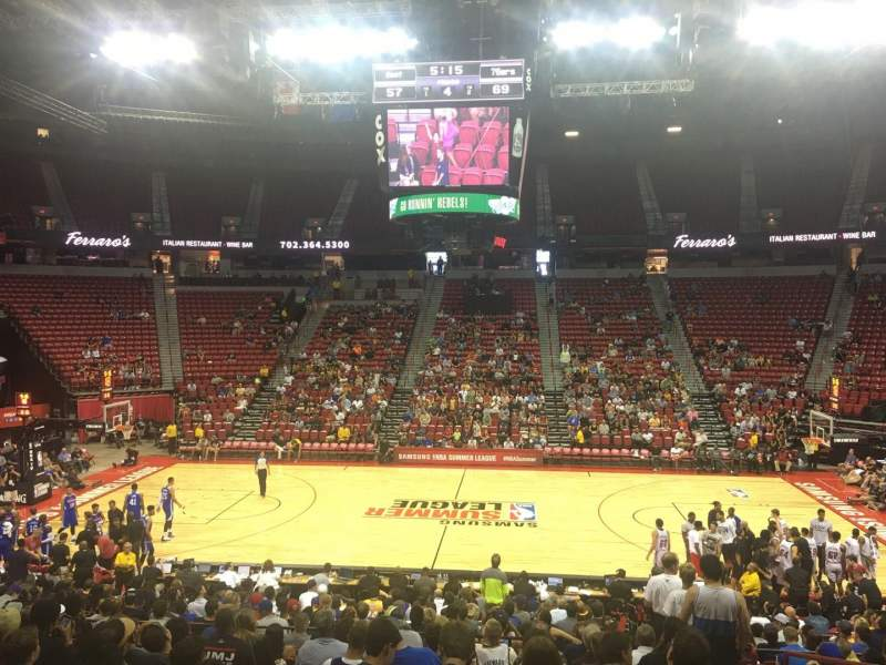 Seating view for Thomas & Mack Center Section 117 Row M Seat 3