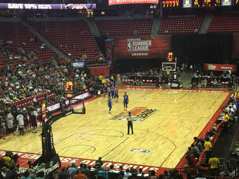 Seating view for Thomas & Mack Center Section 110 Row R Seat 15