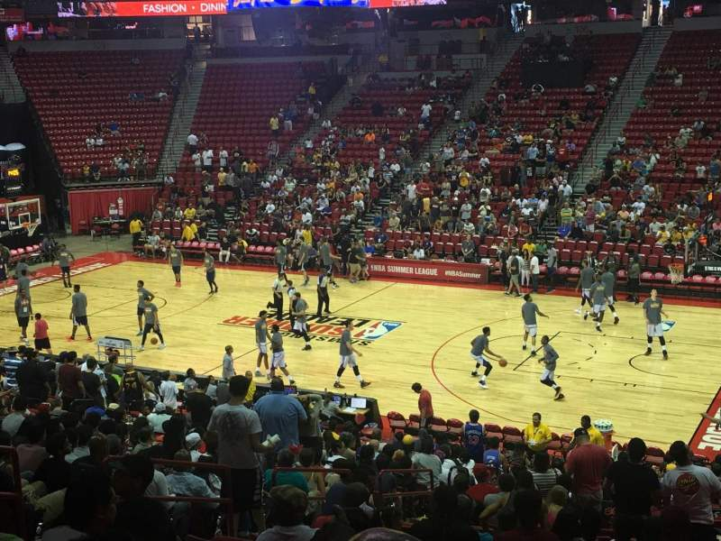 Seating view for Thomas & Mack Center Section 115 Row s Seat 14