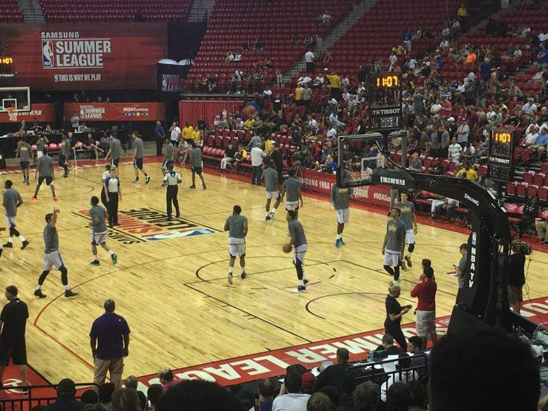 Seating view for Thomas & Mack Center Section 113 Row H Seat 10