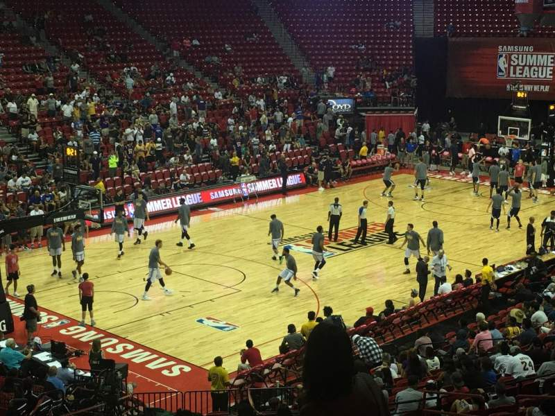 Seating view for Thomas & Mack Center Section 109 Row T Seat 11